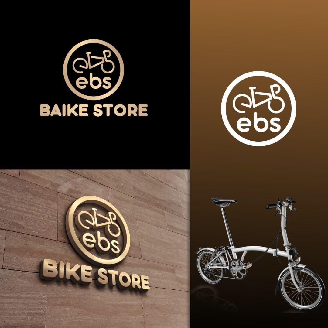 Jasa Logo Toko Sepeda Lipat untuk EBS Bike Store✅