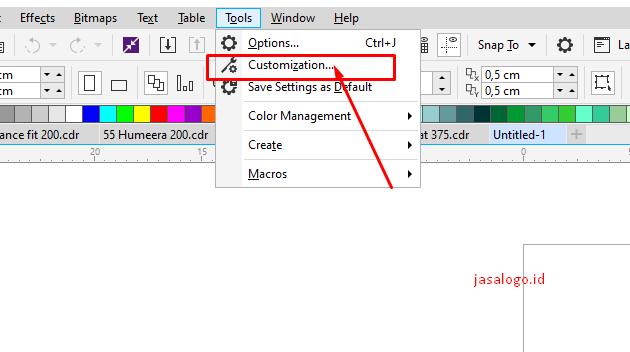 cara membuat shortcut coreldraw
