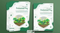 Poster Go Green CDR Template